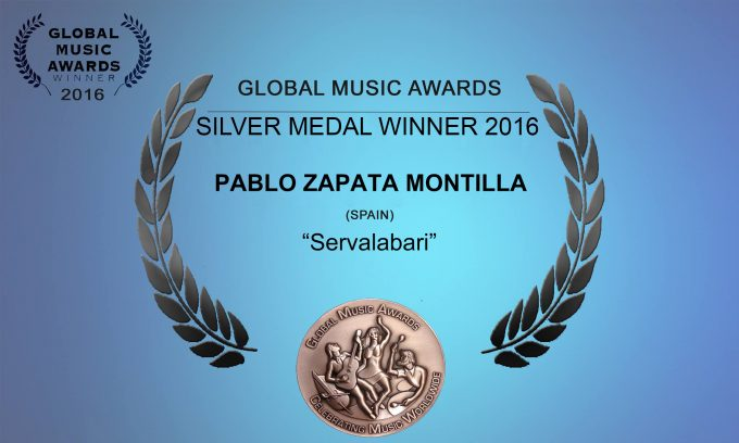 Silver Medal Winner GLOBAL MUSIC AWARDS 2016.