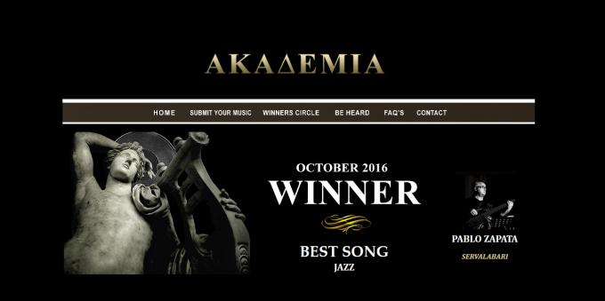 Winner best song jazz THE AKADEMIA ( Los Angeles, CA)