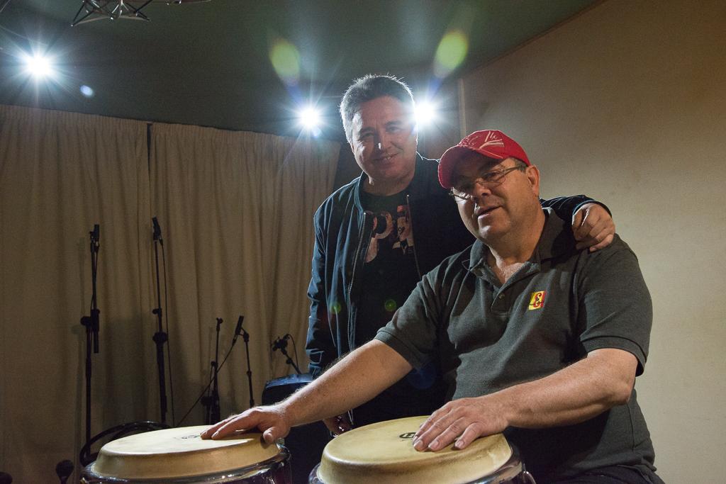 Con Victor Pérez en Estudio Gandul