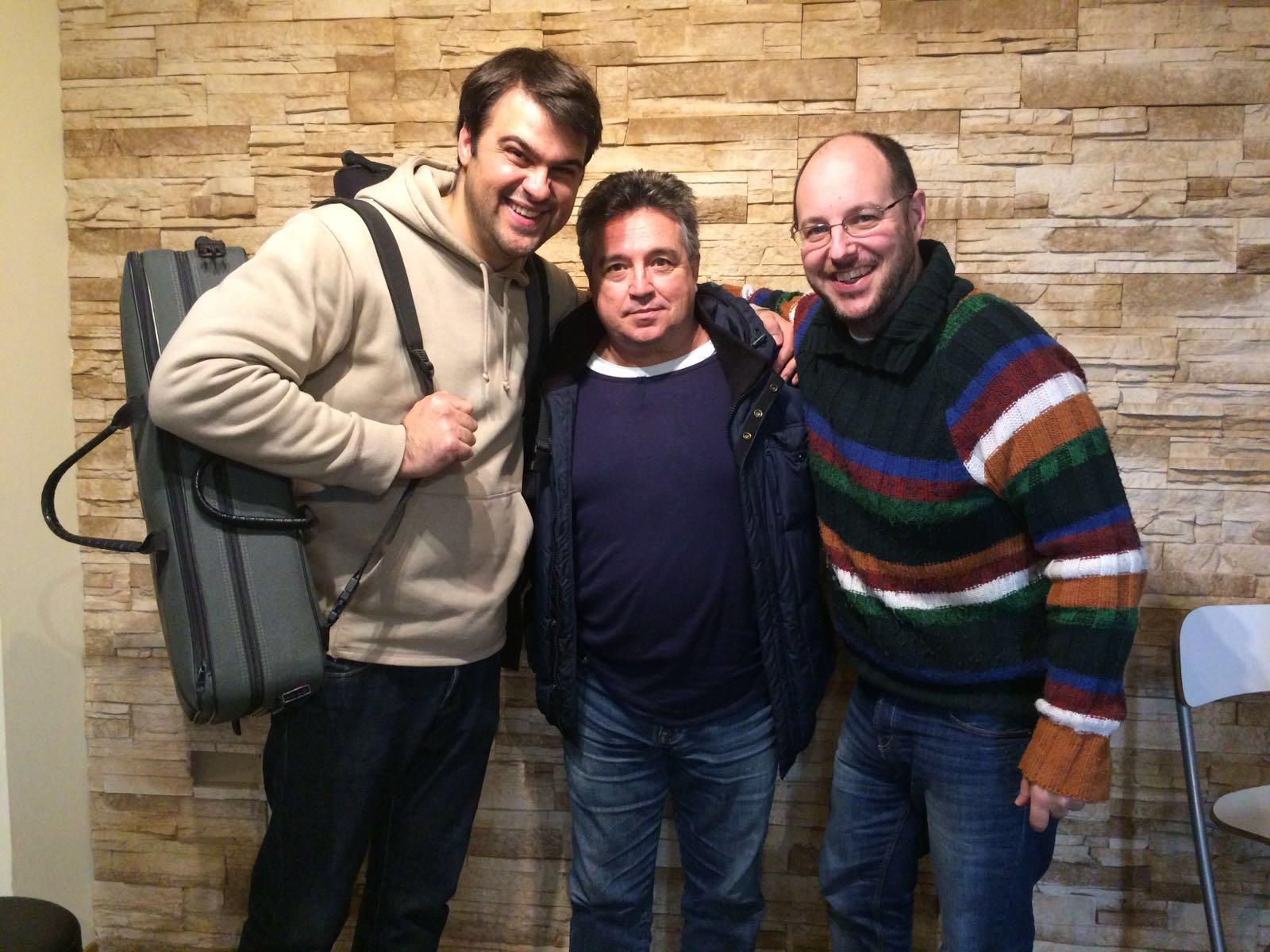 Con Alvaro Gandul y Javier Ortí